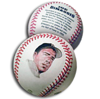 Joe DiMaggio Special Commemoritive Baseball