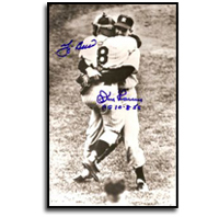 Don Larsen and Yogi Berra Signed Historic