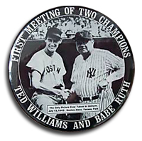 Ted Williams and Babe Ruth Pin